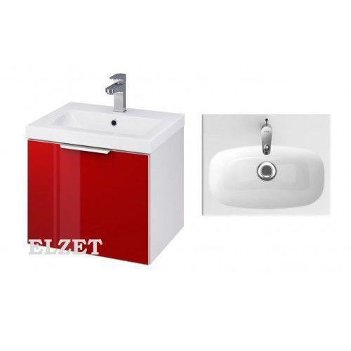 szafka stillo biała/czerwona + umywalka fare 50 s575-009+k11-0187 marki Cersanit