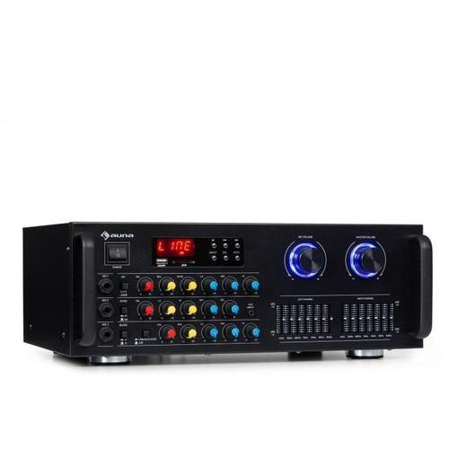 Auna Amp-Pro1 BT, wzmacniacz PA, 2 x 50 W RMS, BT, USB, SD, 2-kanałowy 7-pasmowy korektor (4060656156168)