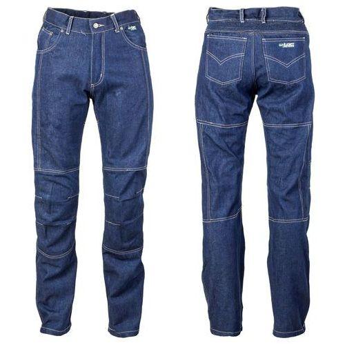 Męskie jeansy motocyklowe z kevlarem nf-2930, niebieski, m marki W-tec