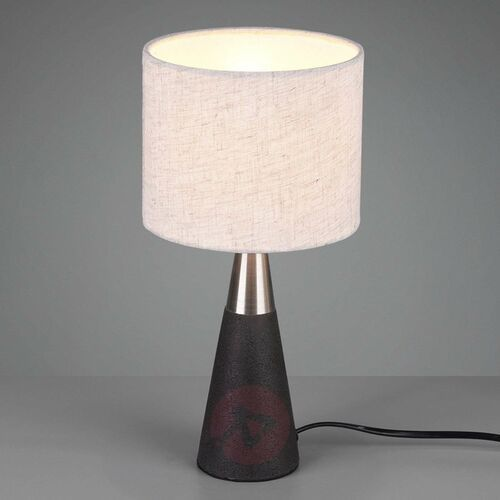 Trio RL Memphis R50330178 lampka stołowa biurkowa 1x40W E14 betonowy / beż
