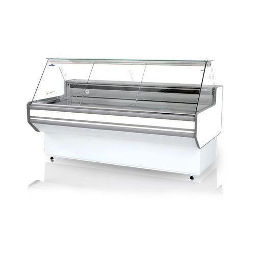 Lada chłodnicza z szybą prostą, ukośną, blatem ze stali nierdzewnej (szlif), 1790x900x1220 mm | , l-a1 179/90 marki Rapa