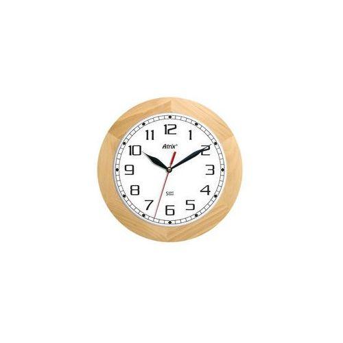 Zegar ścienny drewniany super cichy /solid marki Atrix