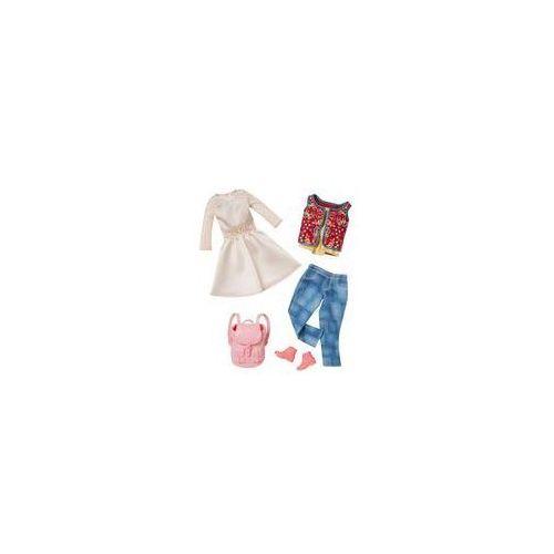 Barbie dwupak ubranek Mattel (biała sukienka i dżinsy), CFY06 DMF57