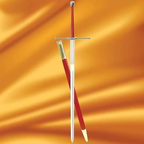 Płatnerze Miecz dwuręczny z pochwą szwajcarskich najemników bitwa pod pawią - 1525 r (ws501229)
