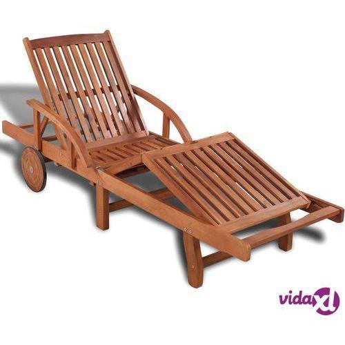 Vidaxl leżak z drewna akacjowego 200 x 68 83 cm