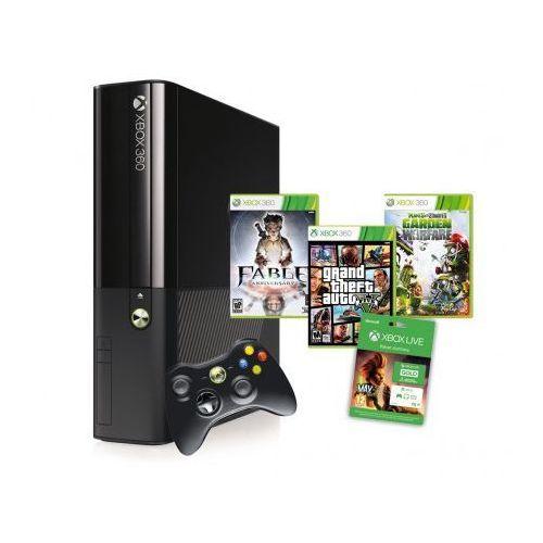 Microsoft Xbox 360 500GB + 3gry + 3 m-ce Xbox Live