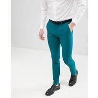 design super skinny smart trousers in teal - green marki Asos
