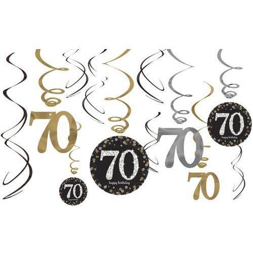 Dekoracja wisząca świderki na 70-tke - 12 szt. marki Amscan
