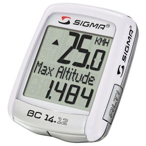 04150 licznik rowerowy bc 14.12 alti przewodowy, pl menu, wysokościomierz marki Sigma