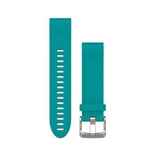 Pasek do zegarka sportowego GARMIN Fenix 5S rozmiar normalny Turkusowy 010-12491-11 (0753759176884)