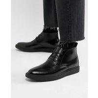 Zign desert boots in black high shine - black