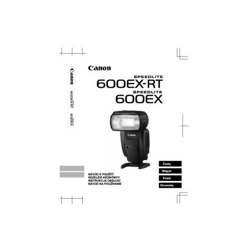 Instrukcja Speedlite 600EX-RT