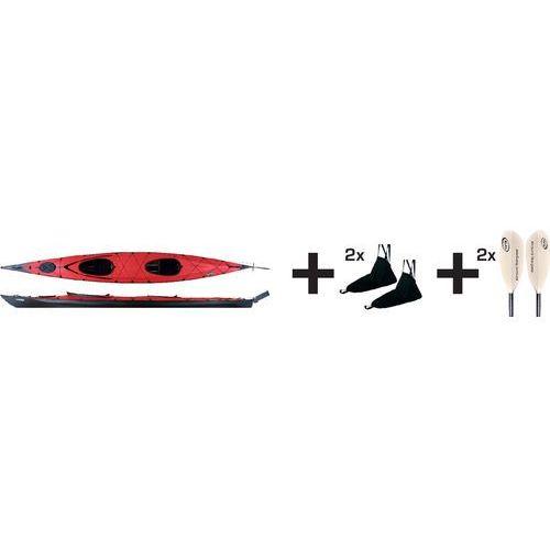 ladoga 2 advanced kajak pakiet czerwony/czarny 2018 kajaki i canoe marki Triton advanced