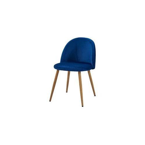 krzesło SONG plaster miodu/ niebieski/ noga dąb