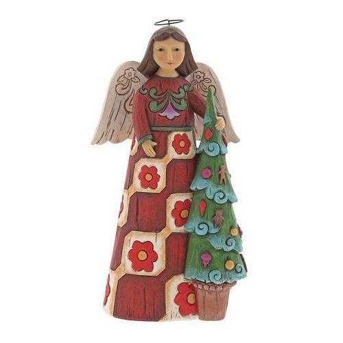 Anioł i choinka folklore angel with tree 6001448 figurka ozdoba świąteczna marki Jim shore