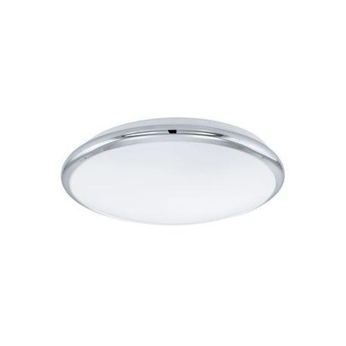 Eglo Plafon lampa sufitowa manilva 93496 metalowa oprawa ścienna kinkiet led 12w okrągły chrom biały (9002759934965)