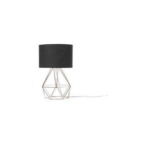 Lampa stołowa czarno-miedziana teton marki Beliani