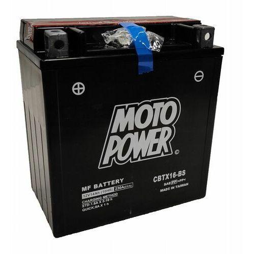 Akumulator motocyklowy moto power cbtx16-bs ytx16-bs 12v 14ah 230a en l+ marki Yuasa