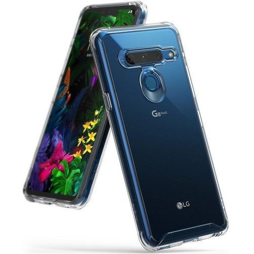 Ringke Fusion etui pokrowiec z żelową ramką LG G8 ThinQ przezroczysty (FSLG0020)