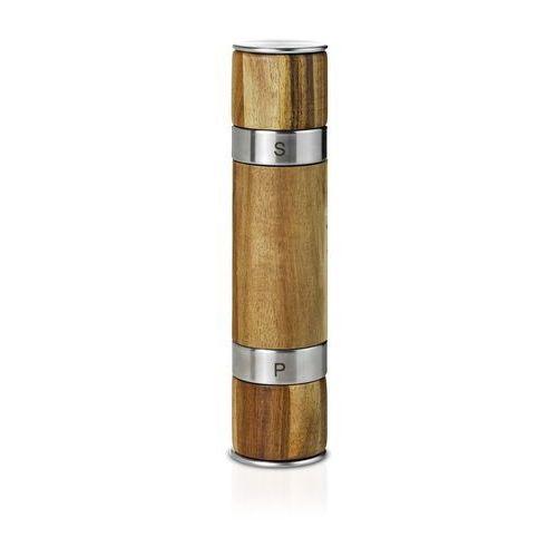 Młynek do pieprzu i soli podwójny Duomill drewniany (4037571321124)