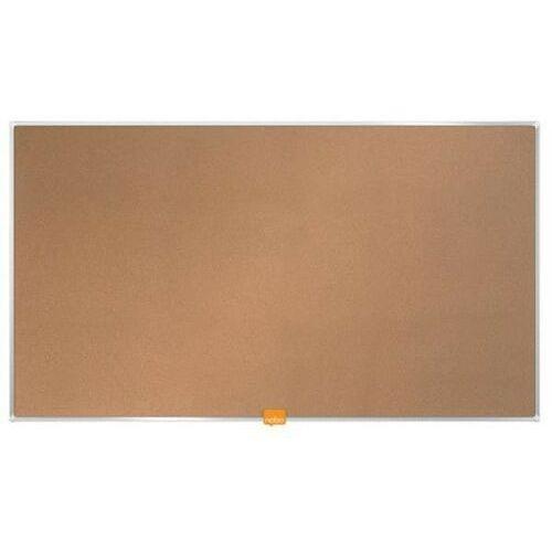 "Tablica korkowa NOBO 189x107cm panoramiczna 85"" rama aluminiowa (5028252522946)"