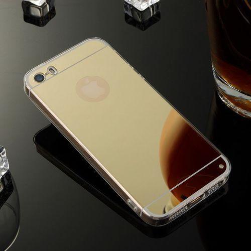 Slim Mirror Case Złoty | Etui dla Apple iPhone 5 / 5S / SE - Złoty