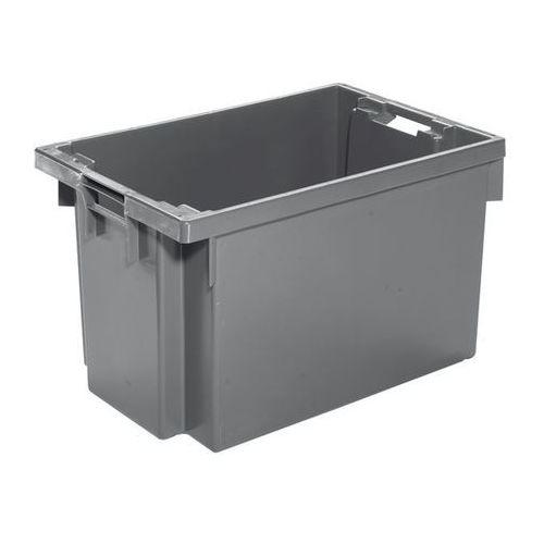 Werit kunststoffwerke Obrotowy pojemnik do ustawiania w stos z hdpe, poj. 60 l, ścianki i dno zamknięt