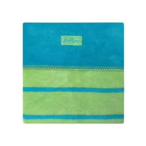 Womar  koc 100% bawełna 75x100 paski turkus/zieleń- wysyłamy do 18:30