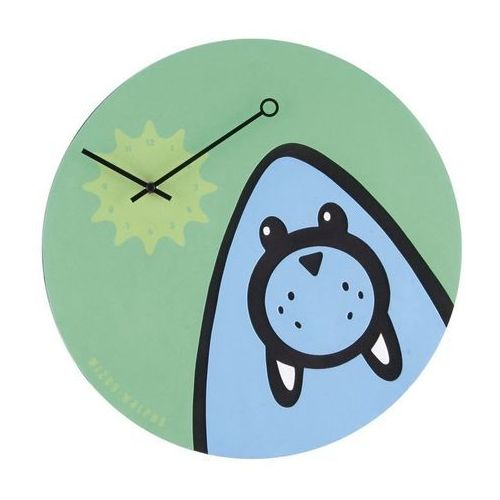 NeXtime - Zegar ścienny Wizky Walrus - zielony