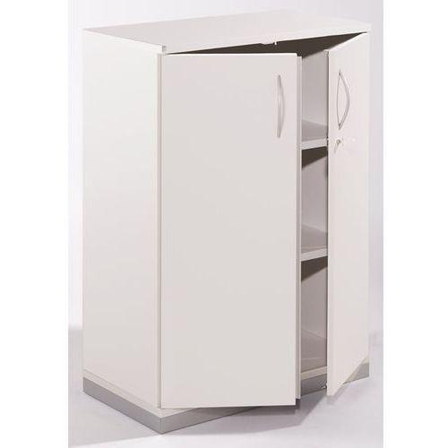Thea - szafka z drzwiami skrzydłowymi, 2 półki, 3 wys. segregatora, stara biel. marki Fm büromöbel
