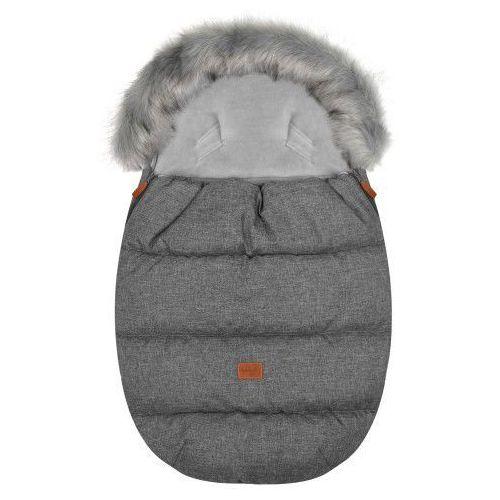 """Śpiworek do wózka z futerkiem do wózka spacerowego zimowy """"Eskimo Gray"""", AF37-77809"""