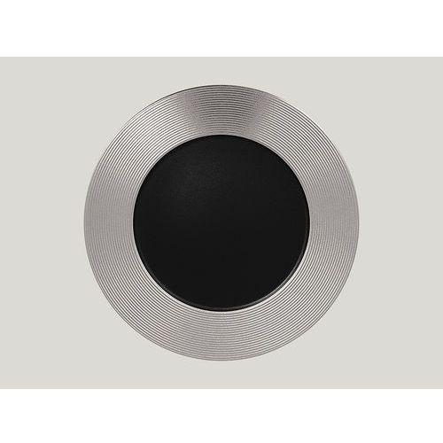 Talerz płaski tłoczony 330 mm, srebrny | RAK, Metalfusion
