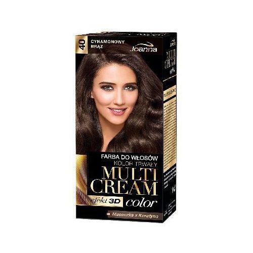 Joanna Farba do włosów  multi cream color cynamonowy brąz 40