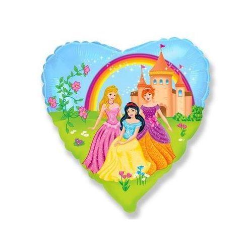 Go Balon foliowy serce princess - 46 cm - 1 szt. (8435102301908)