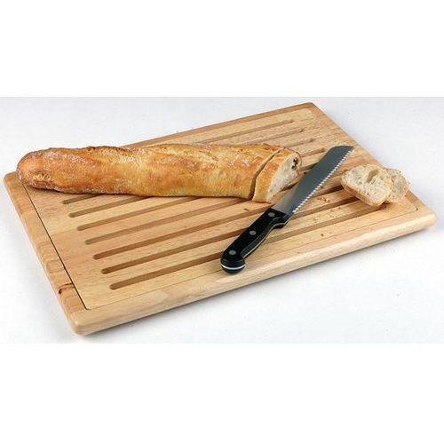 Deska prostokątna drewniana do krojenia pieczywa z tacą na okruchy | różne wymairy