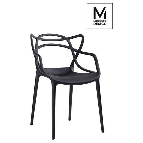 MODESTO krzesło HILO czarne - polipropylen, kolor czarny