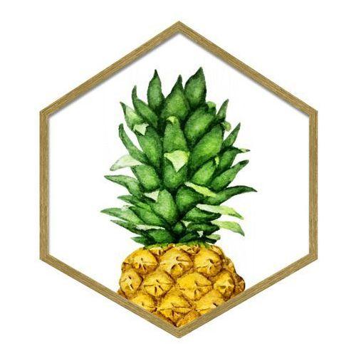 Obraz heksagonalny Ananas 35 x 40 cm, 3540,012 ANANAS