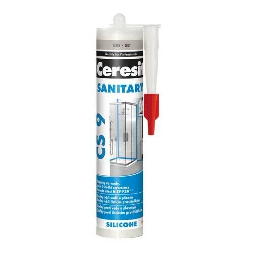 Silikon sanitarny Ceresit CS 9 szary 280 ml