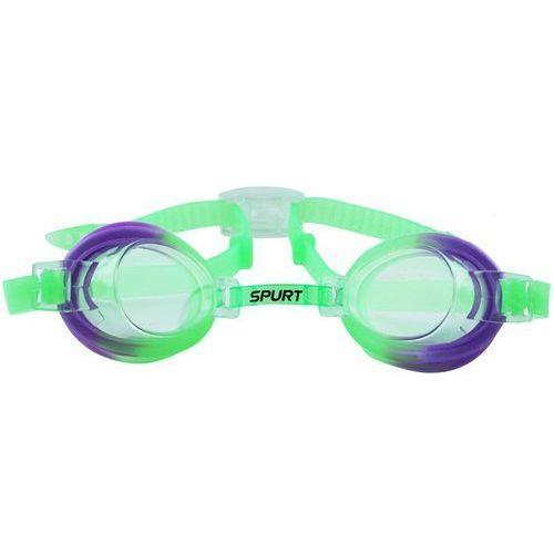 Okularki pływackie SPURT 173 AF Zielono-Fioletowy