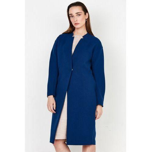 Kobaltowy płaszcz - Patrizia Aryton, kolor niebieski