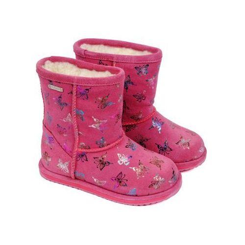 Różowe kozaczki dziecięce Emu Australia Flutter Brumby K11327 Hot Pink 28 różowy - produkt z kategorii- Kozaczki dla dzieci