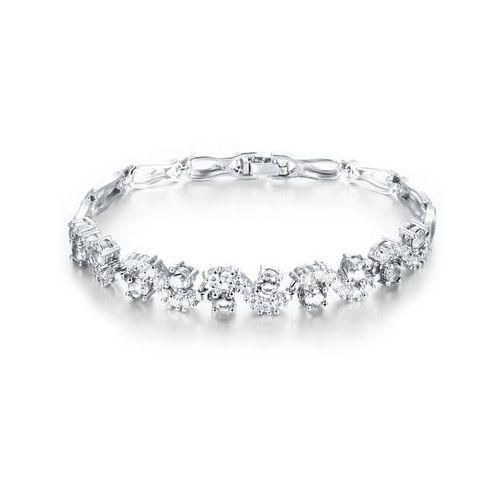 Br599/925 delikatna bransoletka ślubna z cyrkoniami marki Mak-biżuteria