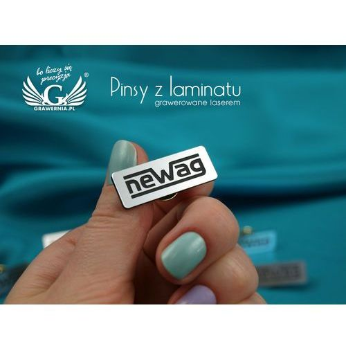 Przypinki/Pinsy mini z Twoim logo - grawer laserem - PS011