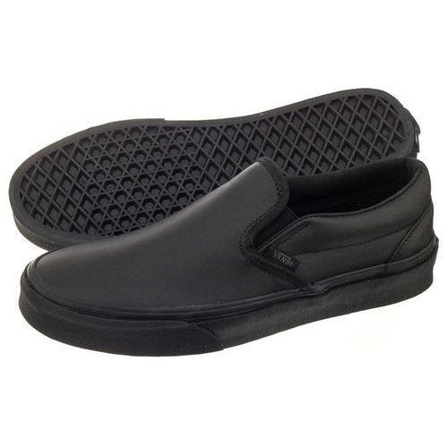 Półbuty Vans Classic Slip-On D (Leather) Black/Mono VA38F8ONQ (VA191-a)