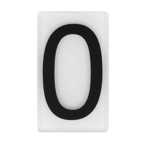 Cyfra 0 wys. 5 cm plexi czarna na białym tle (5905367009268)