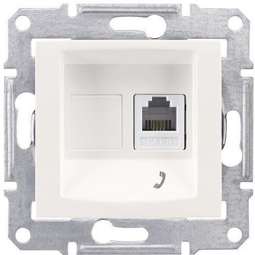 Schneider electric Sedna gniazdo telefoniczne 1 pojedyncze rj11 kremowe sdn4101123 schneider (8690495039221)