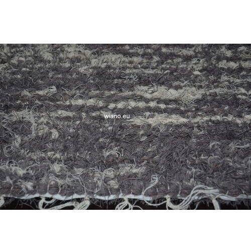 Spółdzielnia twórców ludowych Chodnik bawełniany ręcznie tkany 65x120 cm szary-ecru (k-34)