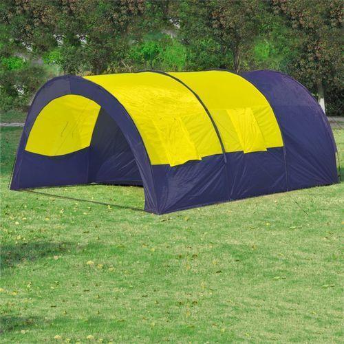 namiot 6-osobowy, niebieski z żółtymi elementami. marki Vidaxl