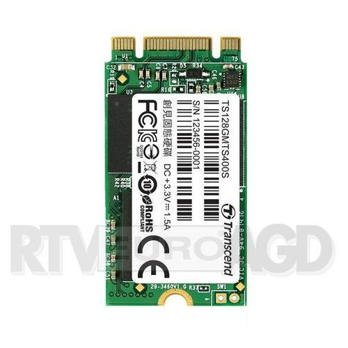 Transcend MTS400 128GB M.2 SATA III - produkt w magazynie - szybka wysyłka!, TS128GMTS400S