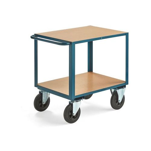 Wózek warsztatowy sedan, bez hamulców, 2 koła skrętne, 600 kg, 800x600 mm marki Aj produkty
